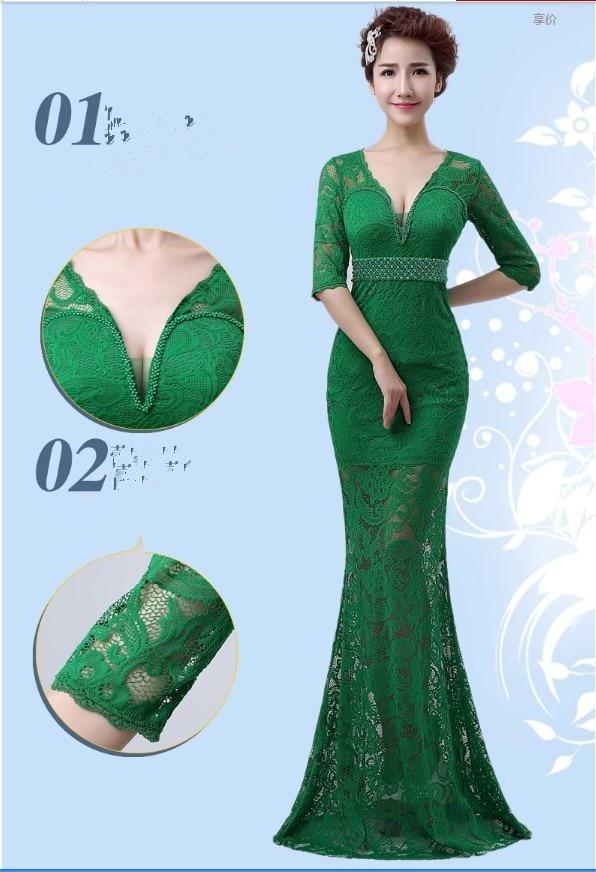 Реалистичная картина кружево с v-образным вырезом Вечерние платья строгое длинное вечернее платье vestido de festa rendo robe de soiree abiti da sera 559