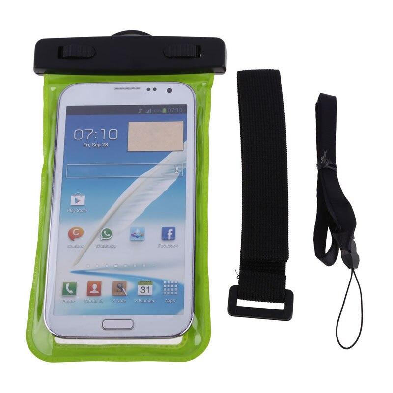 Green 3 5mm Earphone Jack Waterproof Pouch Earphones Bag Case Armband for Cell Phones fone de