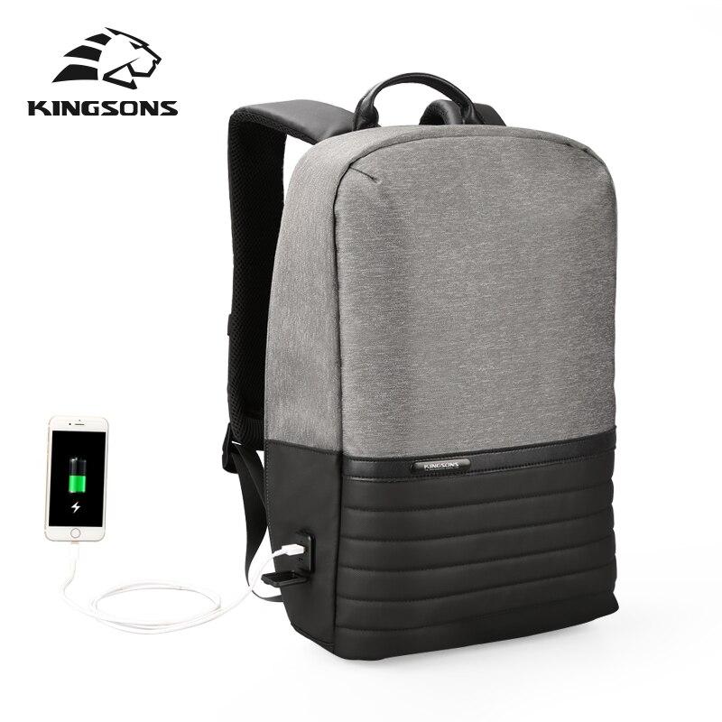dd56864e8a11 Kingsons модный мужской женский рюкзак повседневный мужской женский рюкзак  с USB рюкзак для ноутбука 15,