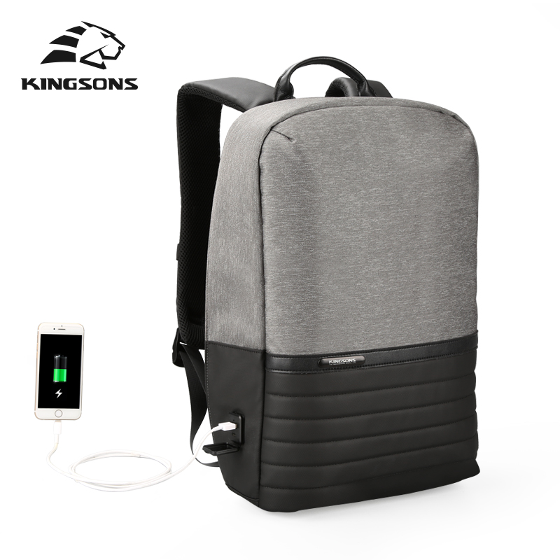 Kingsons Fashion Men Women Backpack Casual Male Female Backpack w/ USB Laptop Backpack 15.6 inch School Bags for College StudentKingsons Fashion Men Women Backpack Casual Male Female Backpack w/ USB Laptop Backpack 15.6 inch School Bags for College Student