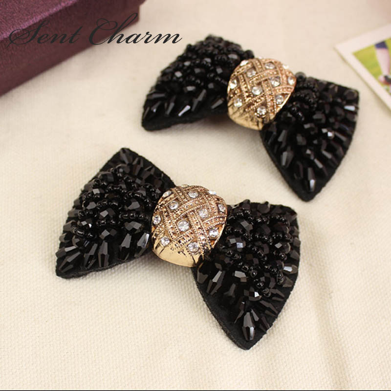 SENTCHARM Fashionable Bowknot Rhinestone Shoes Decoration DIY Luxury High-end Accessories For Womens Shoes