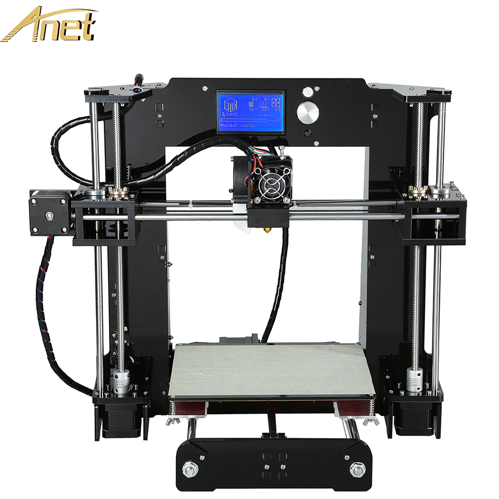 2016 Display Upgrated Anet 3d printer Large Printing Size Reprap Prusa i3 3D Printer Kit  DIY With Free Filament Aluminum Hotbed