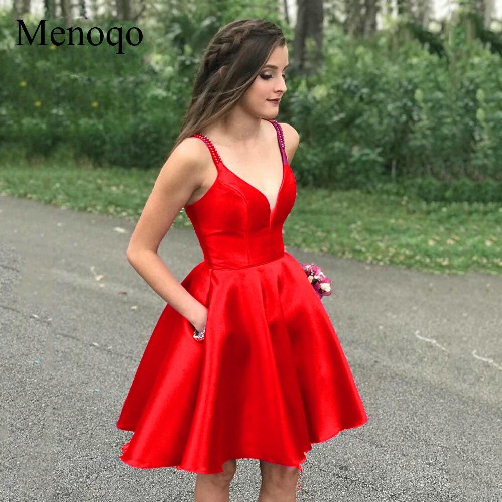 Hot Offer #b4c07 - Elegant Satin Short Homecoming Dress 2019 ...