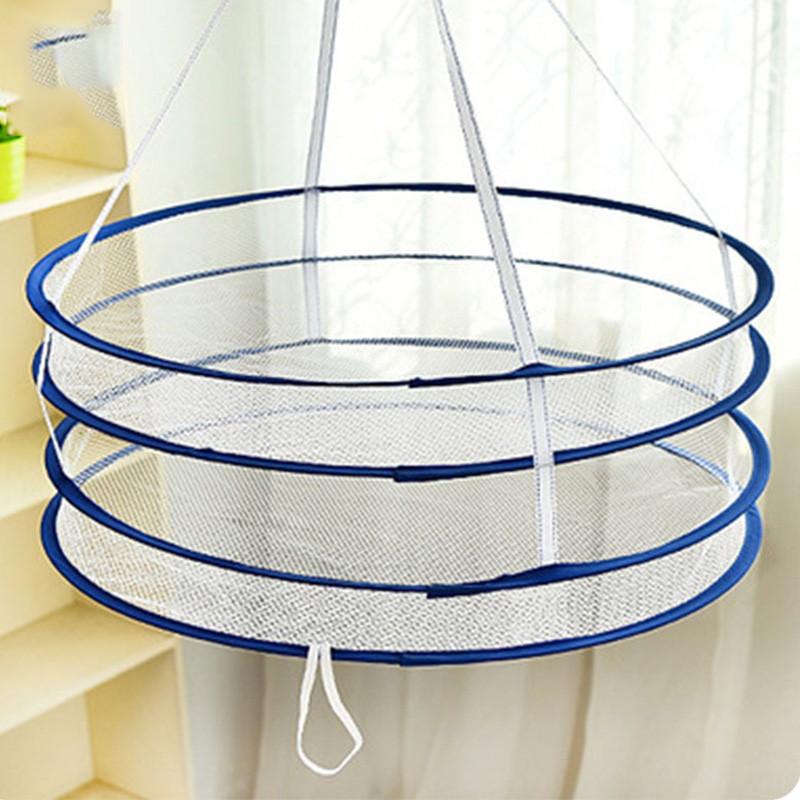 Double Layer Hanging Drying Nets Laundry Hook Foldable Mesh Dry Rack Underwear Stocking Clothes Dryer Network Laundry Storage in Drying Racks Nets from Home Garden