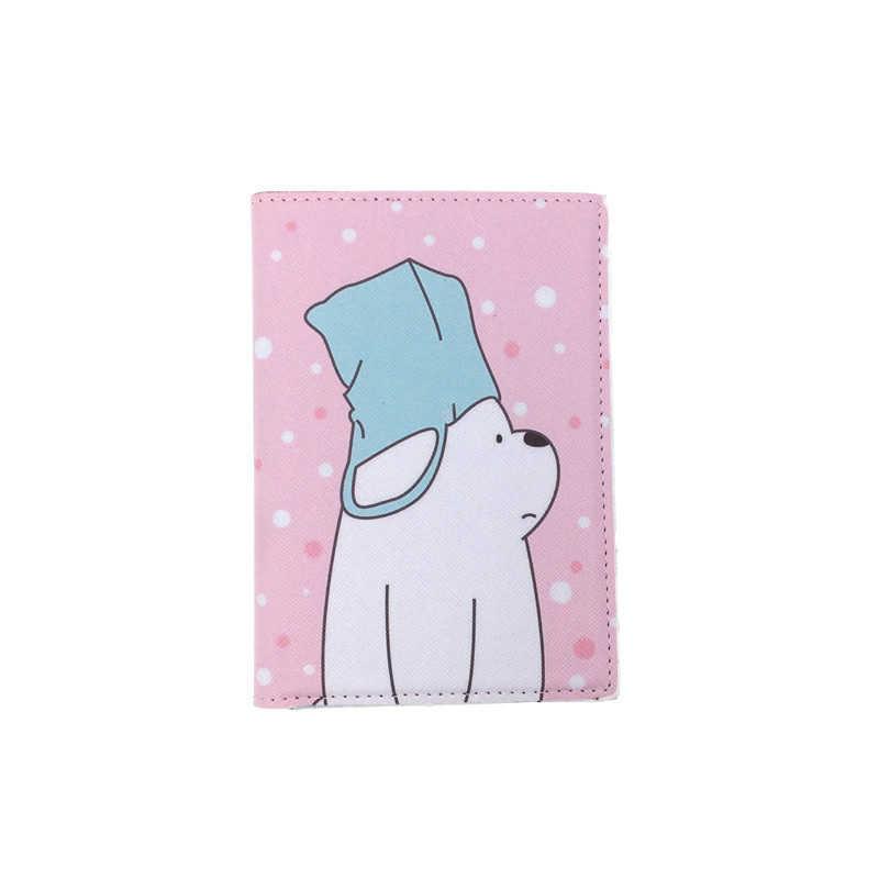 Мультфильм животных коричневые медведи Обложка для паспорта, кошелек сумка ID адрес держатель портативный PU Кожаный Багаж посадочный талон дорожные аксессуары