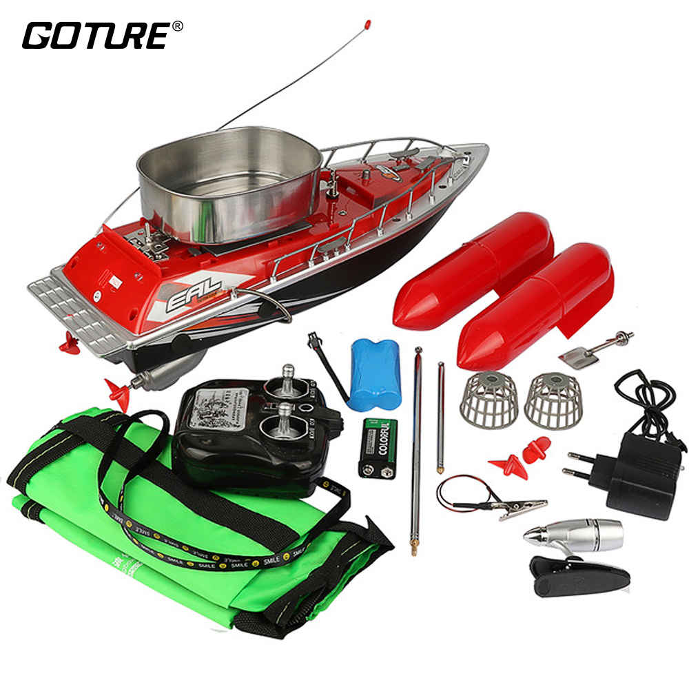 Goture Mini RC Bait Fishing Boat 200M Remote Control Fish Finder Boat Fishing Lure Boat 5/8 Hours Accessories цена и фото