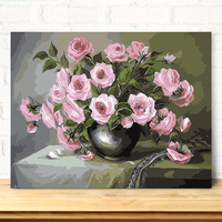 MaHuaf A1021 Max Size 60x75cm Frameless DIY Oil Painting By Numbers DIY Digital Oil Painting On