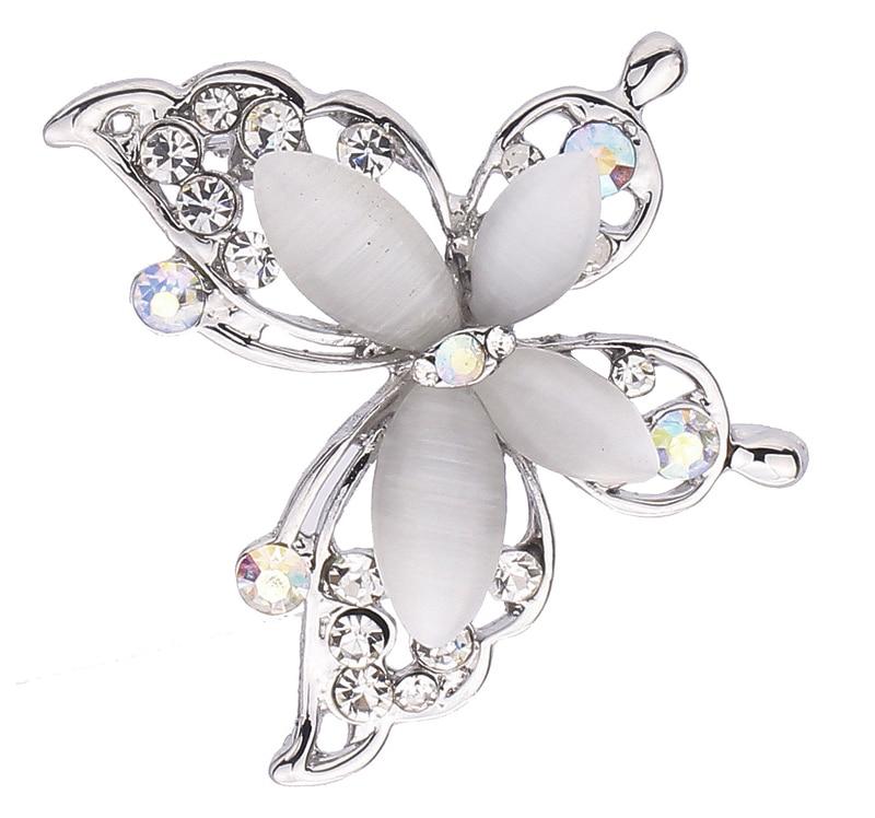Új divat tiszta kristály ezüstös ékszerek Butterfly Bross Pin ékszerek nőknek Ingyenes házhozszállítás