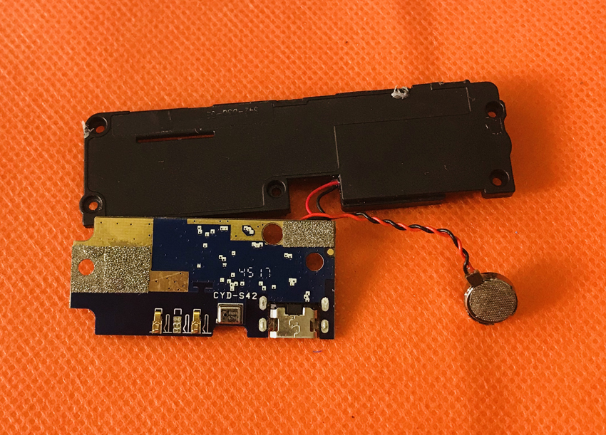 Used Original USB Plug Charge Board+loud speaker For Oukitel MIX 2 MTK6757 HelioP25 Octa Core Free Shipping