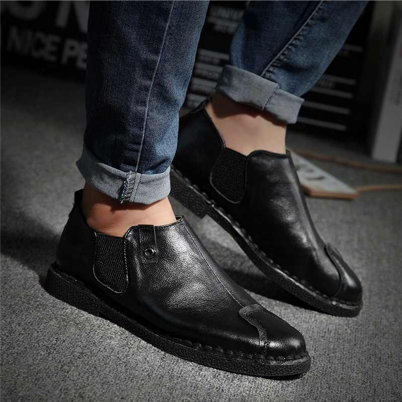fe54b76800f ... Nice New Genuine Leather Shoes Men Warm Winter Men Shoes Fashion Autumn  Men Casual Shoes High ...