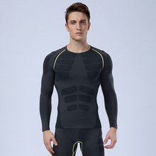 Absorb Sweat Men Sport running Fitness Top thermal muscle bodybuilding gym compression tights Tshirt Perspiration T-Shirt HSMA04