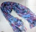 Мода 100% шелковый шарф Шаль, Обертывания Шарфы Neckscarf 180*110 см 16 шт./лот смешанных дизайн #2054