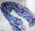 Moda 100% lenço de seda Xale, Neckscarf Cachecóis Wraps 180*110 cm 16 pc/lote projeto mista #2054