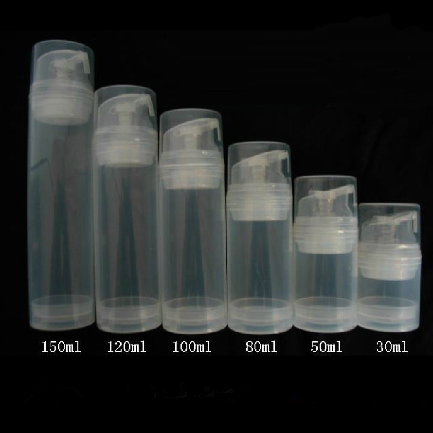 10pcs/lot 30/50/80/100/120/150ml Essence Pump Bottle Plastic Airless Bottles Can Used For Lotion Shampoo Bath Cosmetic Container
