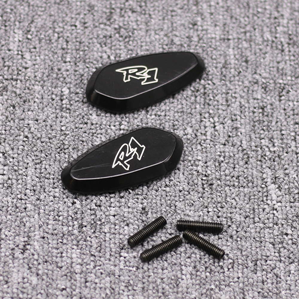 Black Mirror Block Off Base Plates For Yamaha R6 YZF-R6 1999-2007 2001 2002 2003
