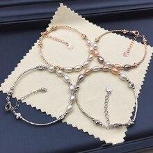 Уникальный дизайн натуральный пресноводный жемчуг браслет классический браслет модные ювелирные изделия, 10 шт./партия