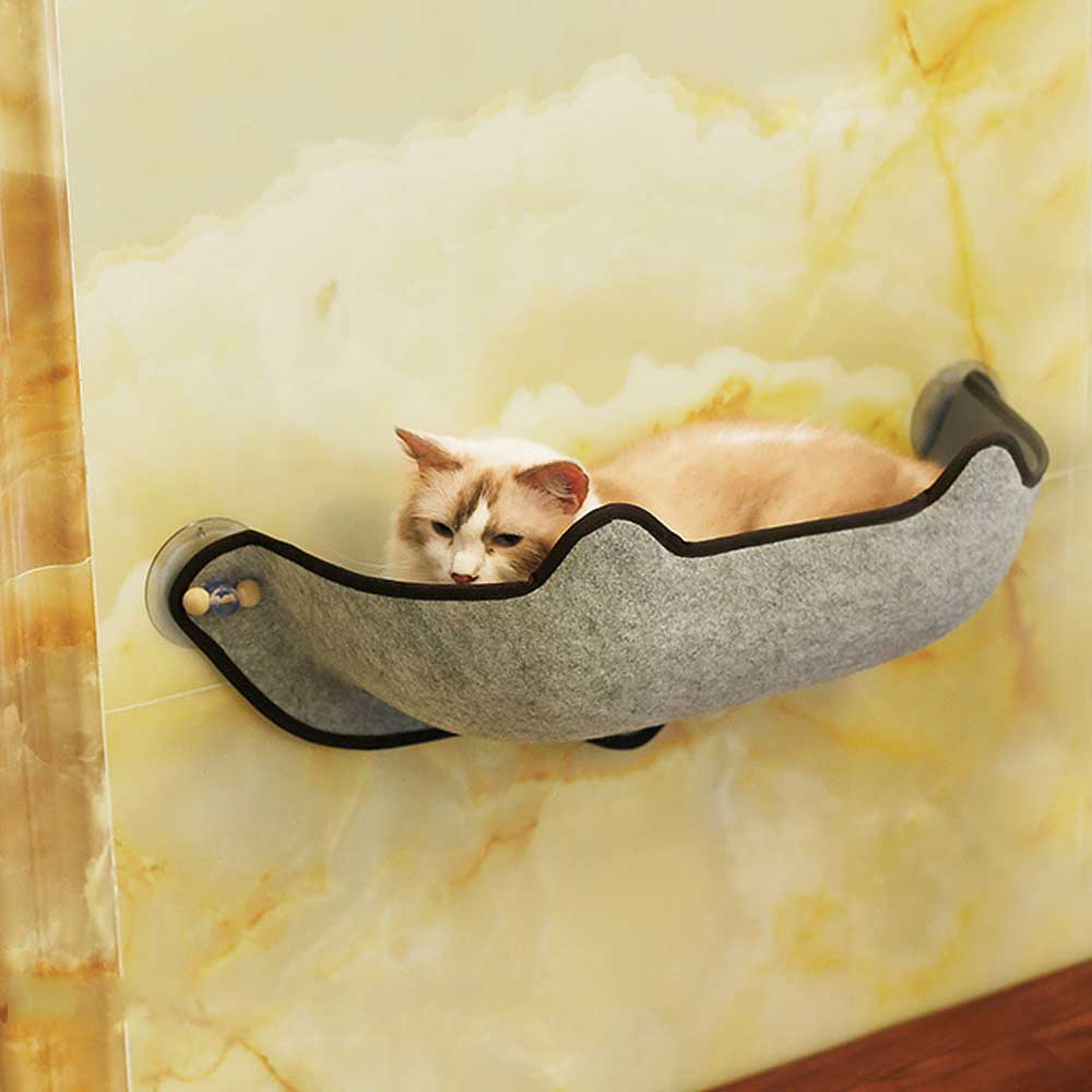 14pcs/set  Cat Hammock Bed Mount Window Pod Lounger Suction Cups Warm Bed For Pet Cat Rest House Sun Wall Bed Soft Ferret Cage #6