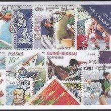 50 шт./лот спортивные все разные из многих стран без повтора неиспользованные почтовые марки для сбора