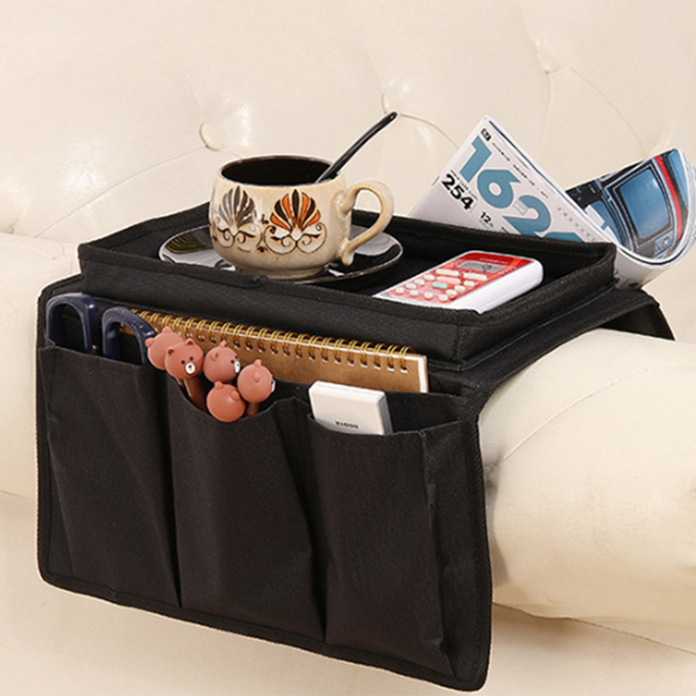 Storage Bag Foldable Large Capacity Space Saver Non-slip Sofa Organizer for Remote Control Phone Magazine Glasses