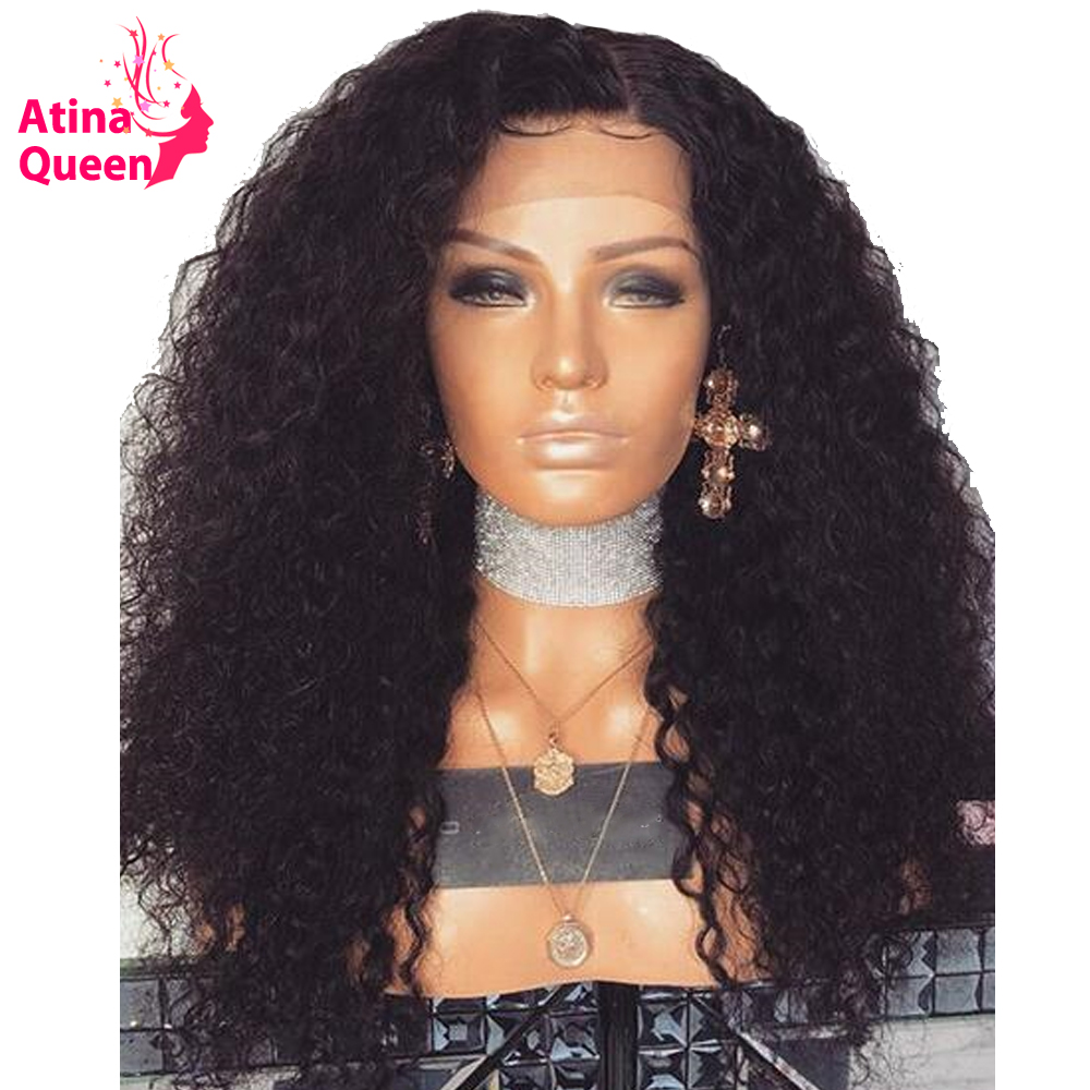 Atina Queen 250 Density 13x6 Deep Parting Lace Front Human Hair Wigs Afro Kinky Wave Lace