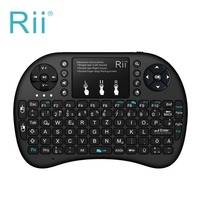 Teclado de rii mini i8 touchpad sin hilos del teclado alemán retroiluminada ratón combo pc htpc teclado para tablet andorid/smart caja de la tv