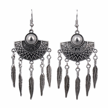 Tassel Earrings For Women Fashion Earring 2019 Ethnic Vintage Jewelry Antique Silver
