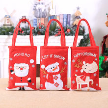 Santa Claus Kids Candy Present Bags Handbag Pouch Wedding Sack Gift Bag New Arrival Dropshipping(China)