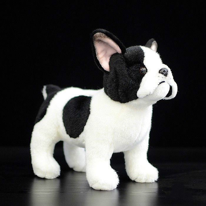 10 Cute Standing Dog stuffed Doll Simulation French Bulldog Plush Toy kids christmas gift simulation squatting pug dog huge 78cm simulation pekingese dog plush toy soft doll hugging pillow christmas gift w1017