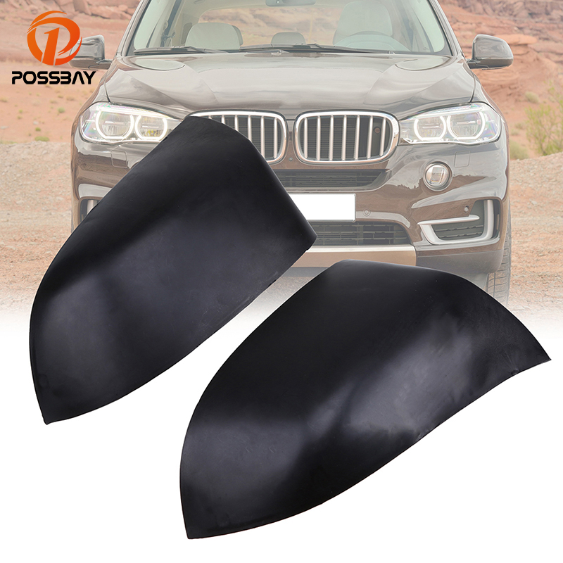 POSSBAY Car Rearview Mirror Cover Fit for BMW X5 SUV F15 2014/2015/2016/2017/2018 Matte Black Automobiles Front Door Mirror