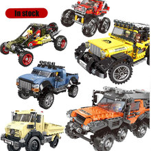 XINGBAO 03024 03025 660pcs 8x8 ATV Technic SUV Car Pickup Car Model Building Blocks Bricks Toys Arakawa Compatible with(China)