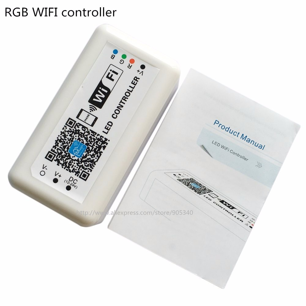 MINI LED WIFI Controller rgb DC12 24V 12A for RGB LED Strip panel ...