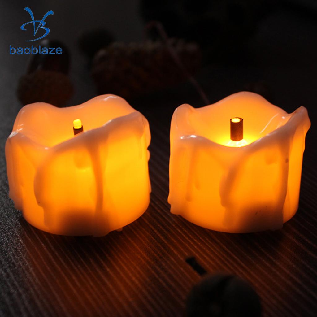 LED Candles Tea Light Flameless Candle Flameless Battery Xmas Gift Wedding Decor 50Pcs fancy purple led flameless candle