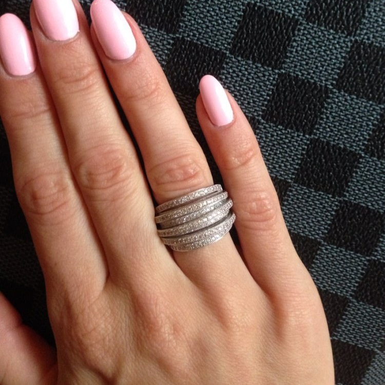 Luxury AAA Cubic Zirconia Micro Pave Setting Multi-layered Clear Stone Full Finger Ring,brilliant ,party Accessaries R0995