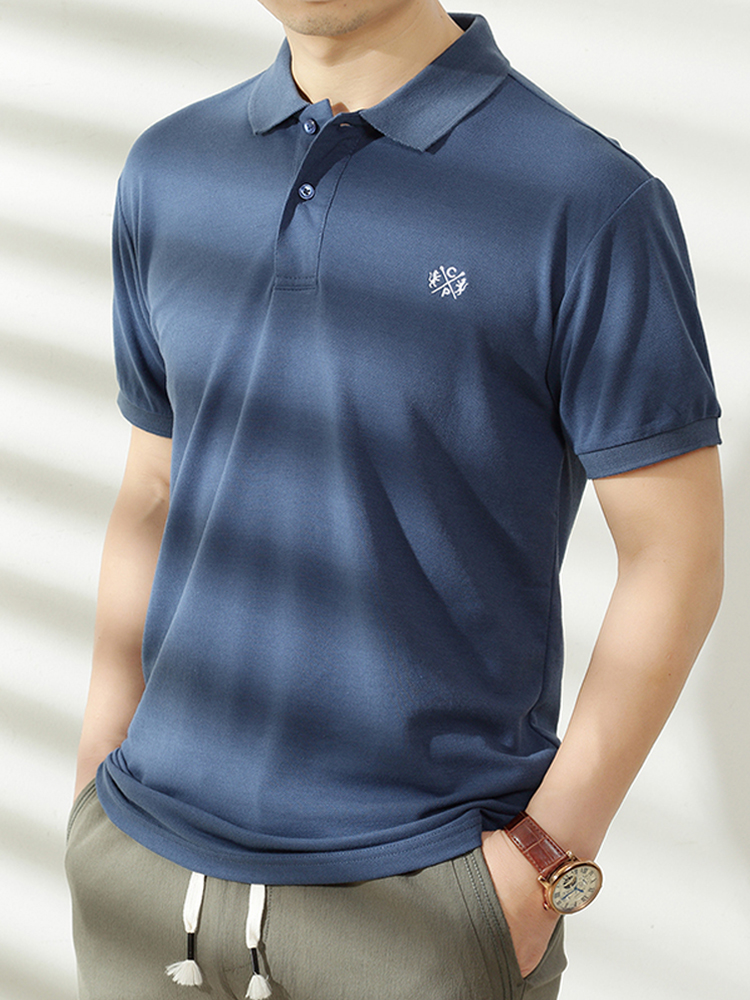Polo-Shirt Short-Sleeve Business Brand-Clothing Soft Breathable Summer Pure-Cotton Male