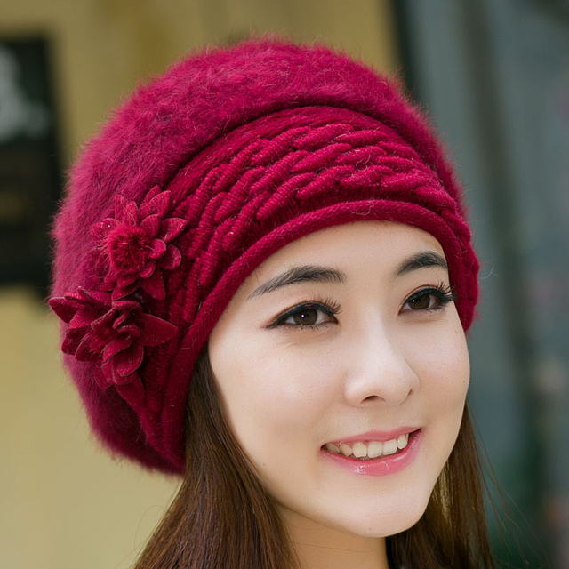 Beanies Women Fur Winter Women's Hats Beret Girls Knitted Winter Hats For Women Bonnet Caps Brand Wool Ladies Warm Skullies Hat