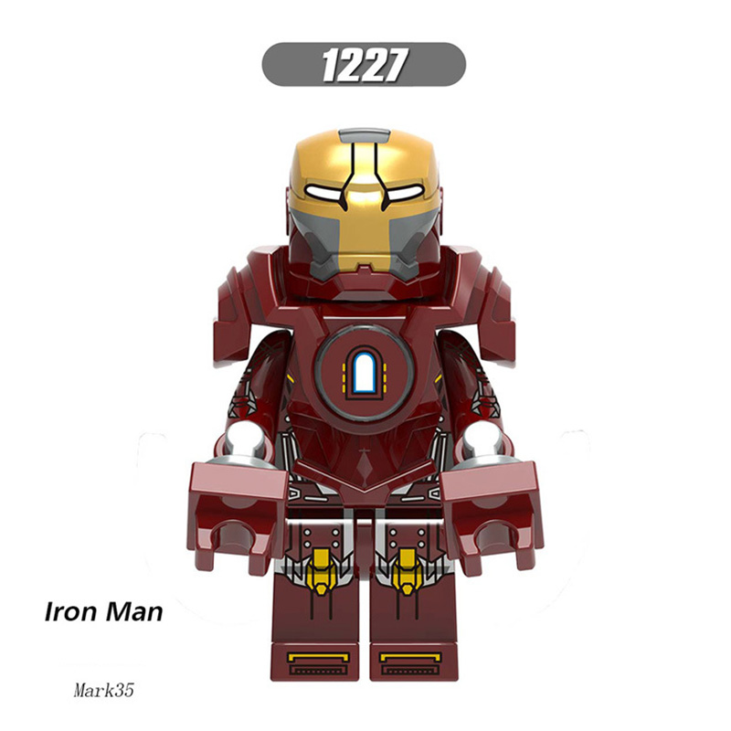 Single Sale LegoINGlys Super Heroes Iron Man Tony Stark Mark 34 Mark 35 Bricks Building Blocks Toys For Children Brithday Gifts