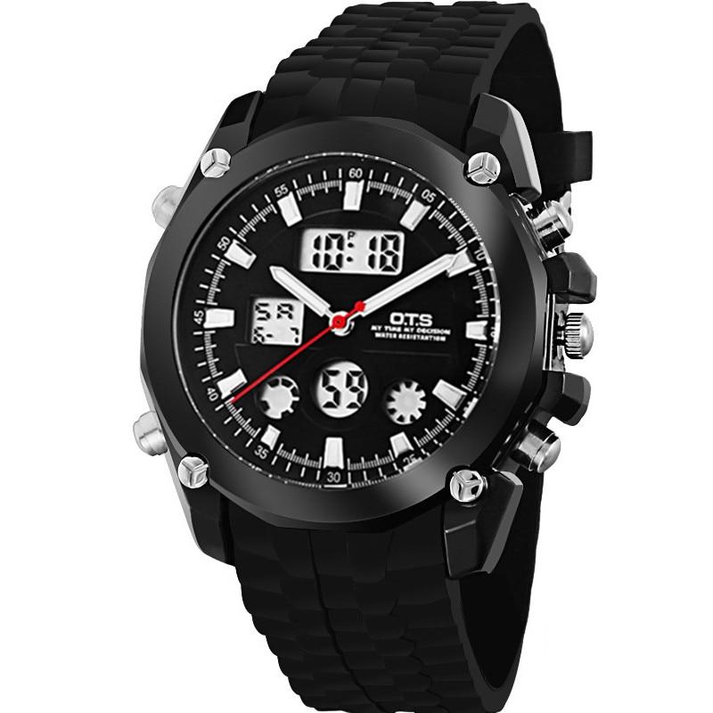 2018 marque O.T.S montre pour hommes Rare matériel en acier inoxydable montre étanche Sportski sat na otvorenom montre