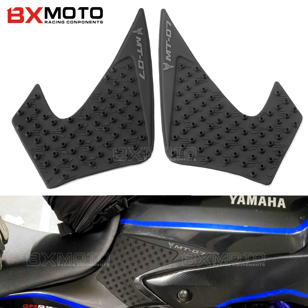 2x For YAMAHA MT-07 MT07 MT 07 2015 2016 Motorcycle Accessories Tank Traction Side Pad Gas Fuel Knee Grip Decal Cover Protector bjmoto for ktm duke 390 200 125 motorcycle tank pad protector sticker decal gas knee grip tank traction pad side