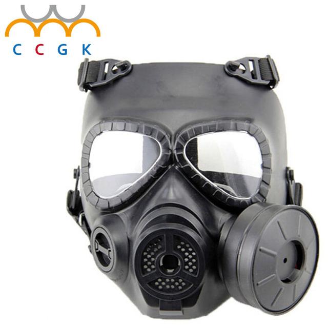 Crânio tático Máscaras Resina Completa Rosto fã névoa Máscaras de Gás para M04 CS Wargame Paintball air gun Rosto protecção Segurança suprimentos