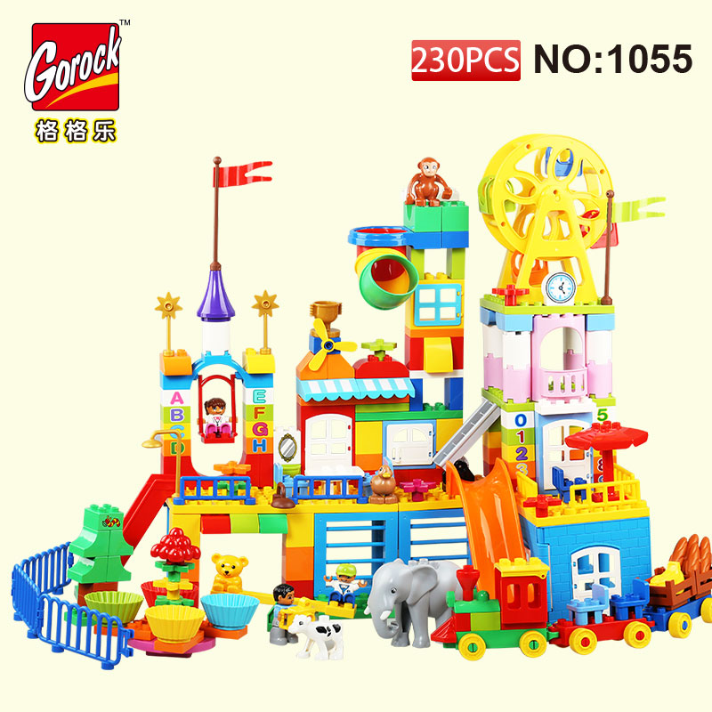 GOROCK 230Pcs Big Building Blocks Model Set children Educational Bricks Toys For Toy Gift For Baby Compatible With Duploe 48pcs good quality soft eva building blocks toy for baby