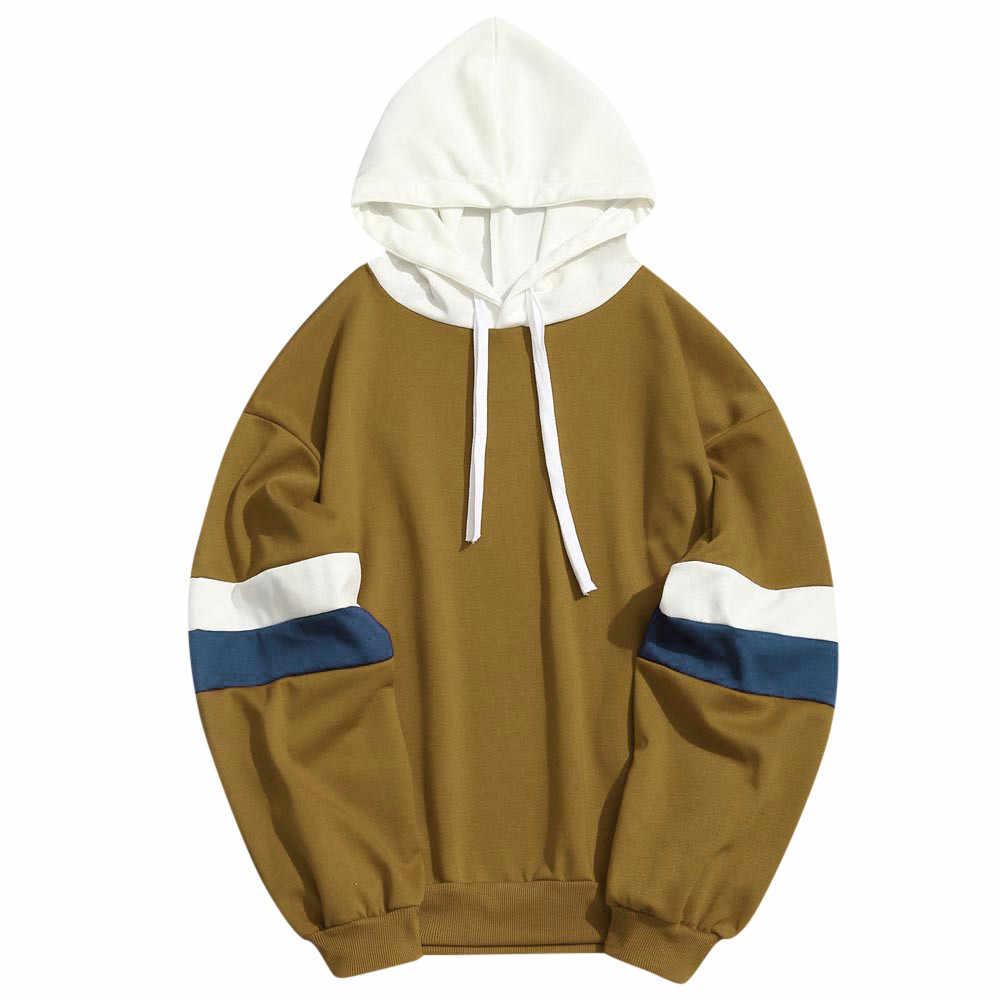 JAYCOSIN 2019 толстовка с капюшоном брендовая мужская Повседневная Лоскутная строчка параллельных баров тонкая Толстовка Куртка хип хоп платок