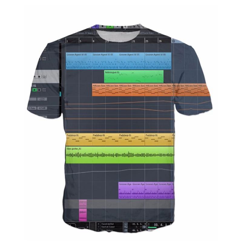Liumaohua New Fashion Ableton Live T-Shirt 3D Sexy Tee Tops Bedroom DJs Popular Music Production Software All-Over Print T Shirt ableton socks