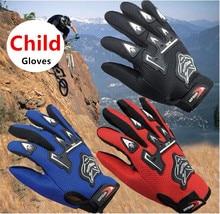 Moda crianças verão luvas da motocicleta dedo cheio criança moto luvas de couro motocross guantes crianças corrida