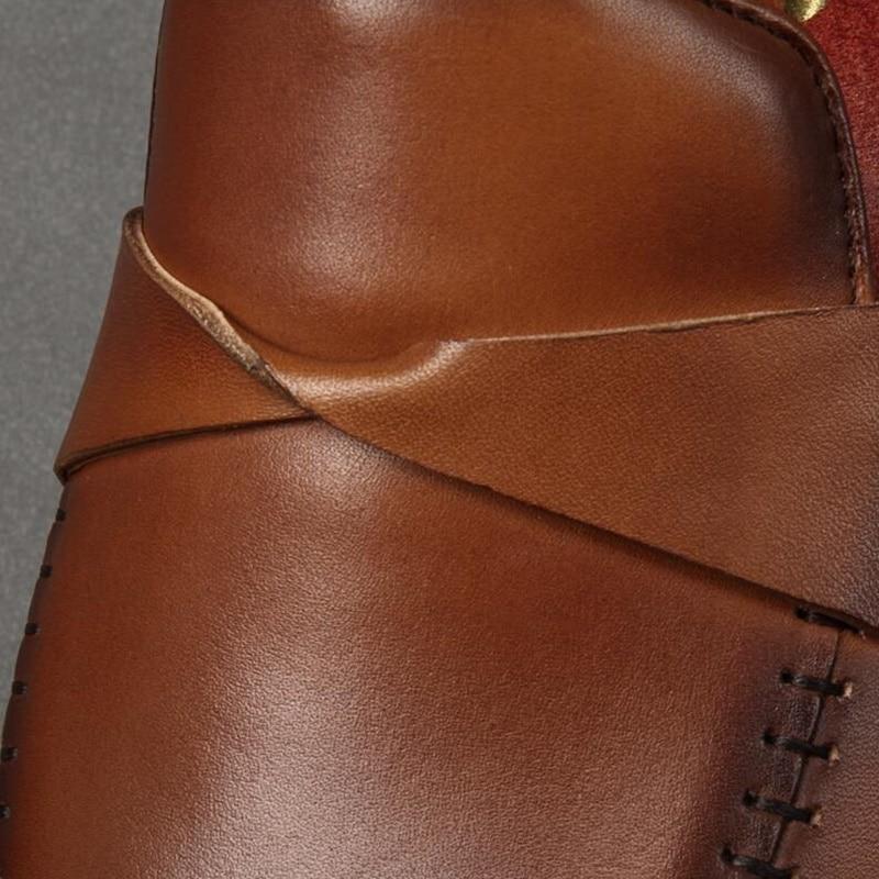 Mão Homens Genuíno As Sapatos Vestido Picture Formais À Britânica as Moda Feitos Couro Escritório Picture Slip Omde Novo Dos Loafers De on Estilo Verão 8qZYRU