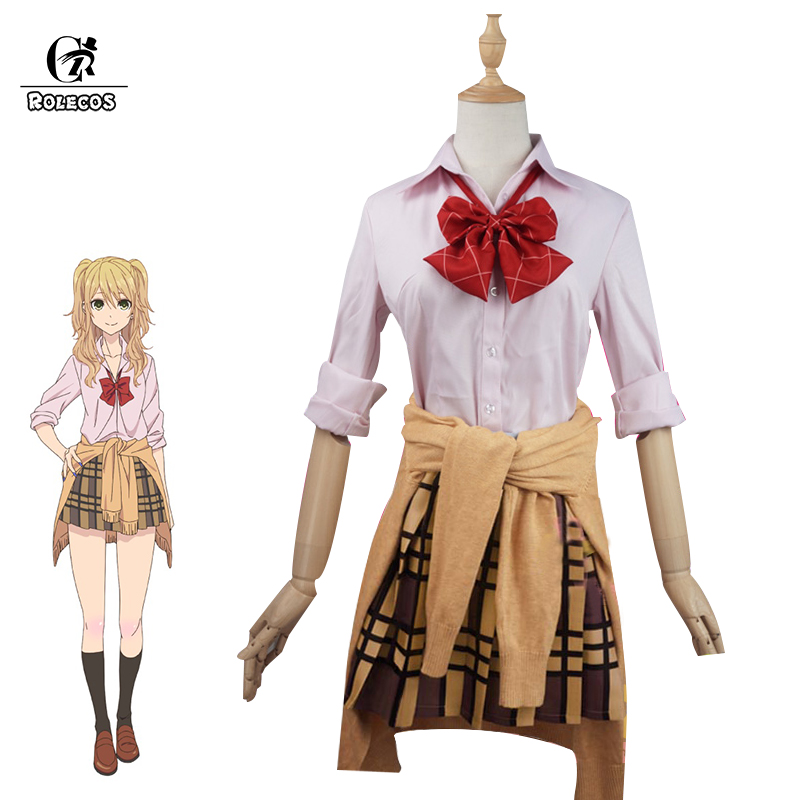 ROLECOS Citrus Anime Cosplay Aihara Yuzu Cosplay Costume Japanese Anime Women Uniform Citrus Full Set citrus shitorasu aihara mei cosplay wig long black straight adult facial hair bangs