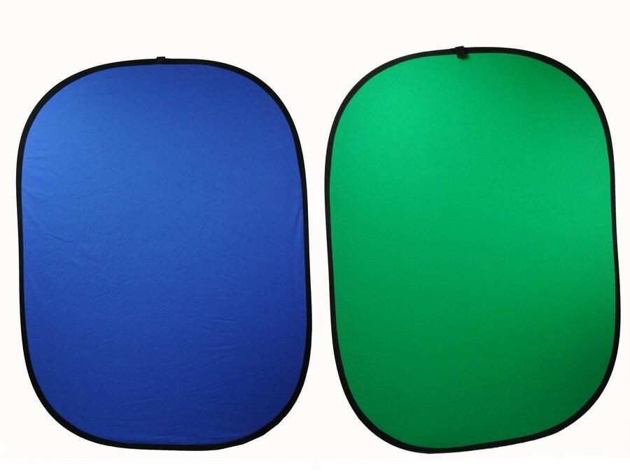 Photo tableau bleu vert/plaque de fond à double usage vert/bleu 1.5*2 m livrer sac portable à fond plateCD50