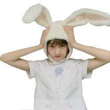 Headband Gifts Ears White Bunny Plush Rabbit Girls Popular for Woman Photographic-Tools