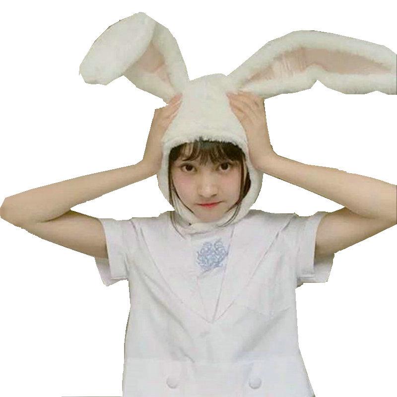 Популярные девушки кролик головная повязка плюшевый кролик с ушами Обручи Белый Кролик уши головной убор подарки для женщин фотографическ...