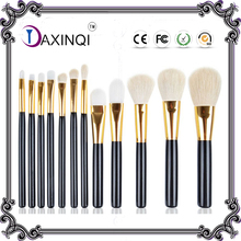 DAXINQI 12pcs Pro white goat hair makeup brush powder contour Foundation Blending Pencil Kabuki brush Cosmetics set