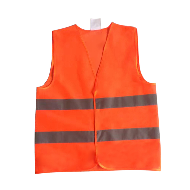 XL XXL XXXL High Visibility Reflective Fluorescent Vest Yellow Orange Color Outdoor Safety Clothing Running Ventilate Safe Vest fluorescence yellow high visibility